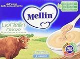 Mellin LioMellin Liofilizzati per Bambini, al Gusto Manzo - 3 Vasetti da 10 gr - Totale 30 gr - [confezione da 12]