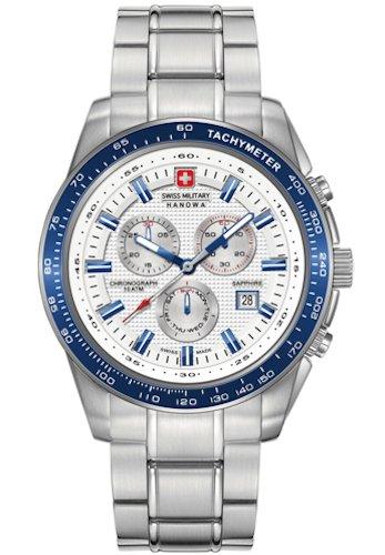 SWISS MILITARY-HANOWA Herren Analog Quarz Uhr mit Edelstahl Armband 06-5225.04.001.03