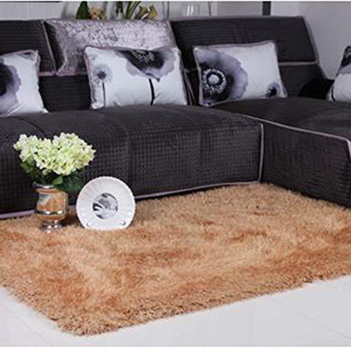 Home Designer Teppich Modern Teppich Hochwertige Elastische Seide Teppich Rechteck 3 Farben Zur Auswahl,Camel,120 * 170CM -