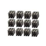 FYSETC 3D-Drucker Zubehör und Teile, Schrittmotor-Treiber Kühlkörper Aluminium Kühlkörper Kühlrippen Treiber Ultra-Silent für TMC2100 A4988 DRV8825 TMC2208 TMC2130 Motor Driver – 12 Stück, schwarz