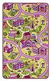 andiamo Straßenteppich/Spielteppich Sugar Town, Pink, Rosa, GUT/Prodis geprüft, weich, Größe:100x165cm