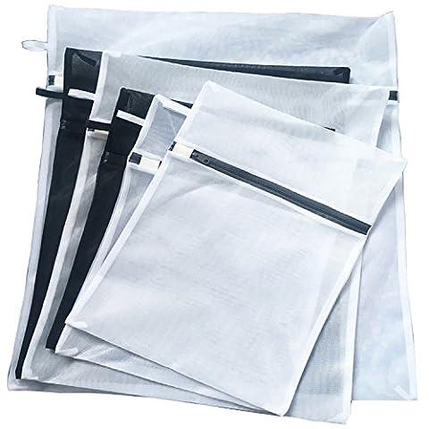 Deluoke haute qualité à laver Sacs Pyrus Sac à linge délicat en maille filet avec fermeture Éclair pour Chemisier, bonneterie, Sous-vêtements, soutien-gorge et Lingerie (lot de 6)