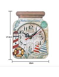 VOSAREA Reloj de Pared de Madera Botella Reloj de Campo rústico para Cocina hogar Cocina