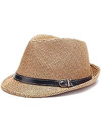 doublebulls hats Cappello di Panama Trilby Uomini Paglia Cappello di Estate  dei Ragazzi 1e34635d87bc