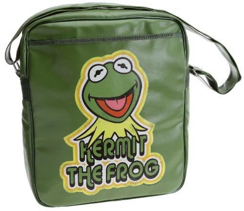 Logoshirt-Kermit Muppets, Umhängetasche, Oliv, hell, Kunstleder, Olive Claire (Grün) - 133-0611/033_Light Olive