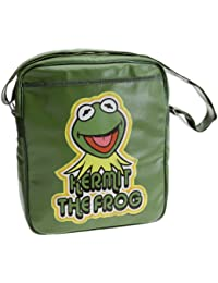 Logoshirt-Kermit Muppets, Umhängetasche, oliv, hell, Kunstleder
