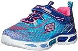 Litebeams Toddler Sneaker (Ni?o peque?o), Azul / Rosa fuerte, 5 M US Toddler