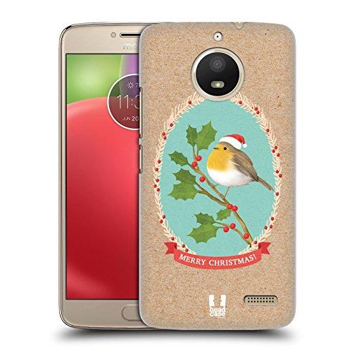 Head Case Designs Rotkelchen Weihnachtsklassiker 2 Ruckseite Hülle für Motorola Moto E4