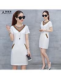 2863bdc33c Verano vestidos de manga corta femenina falda Coreano de moda de alta  costura de verano