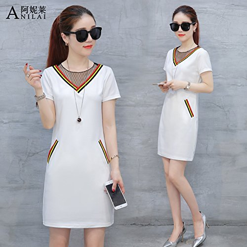 summer-short-sleeved-dresses-female-korean-skirt-summer-couture-fashionmwhite