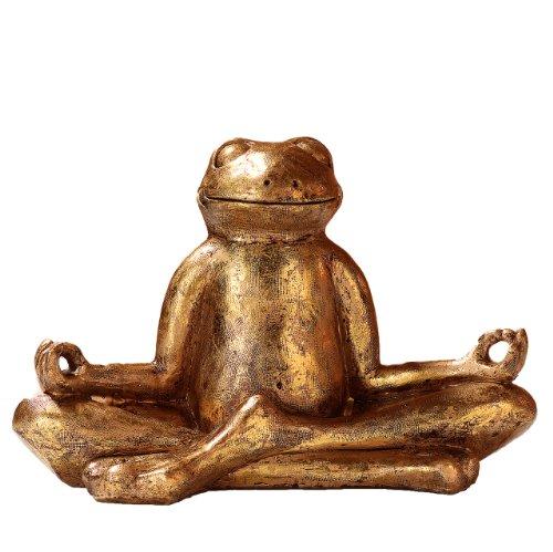 Pajoma 48410b Figura de yoga Rana Relax, plástico, Oro, 29,5x 14,5x 20,5c