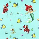 Fabulous Fabrics Disney Arielle Baumwollstoff 1 türkis —