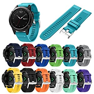 Malloom Reemplazo silicona bandas correas para Garmin Fenix 5 GPS Watch por Malloom