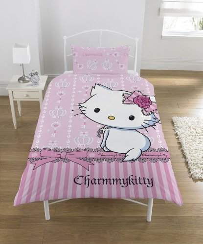 Funda Nordica Juego Charmmy Kitty Jewel Cama 90 Edredon Sabanas Ropa Decor...