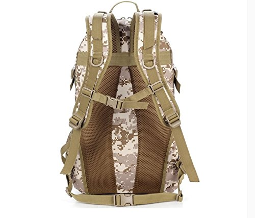 Outdoor Reisen Bergsteigen Taschen Wasserdicht camouflage Rucksack schulter Rucksack 50 * 32 * 16 cm, Wolf Braun, 36-55 Liter Schwarz