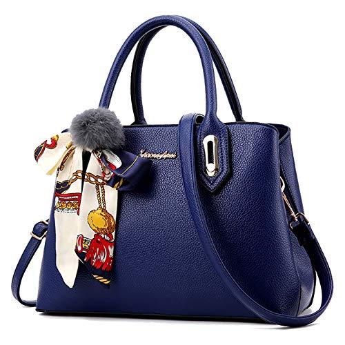 Willlly Handtaschen Damen Tote Neue Schulter Casual Chic Messenger Bag Fashion Handtasche Taschen Vintage Elegant Festlich Party Abendtasche (Color : Royal Blue, Size : One Size)