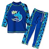 Best Boy Costumes - HUANQIUE Boys 2 Pieces LongSleeve Swimsuit Cute Shark Review