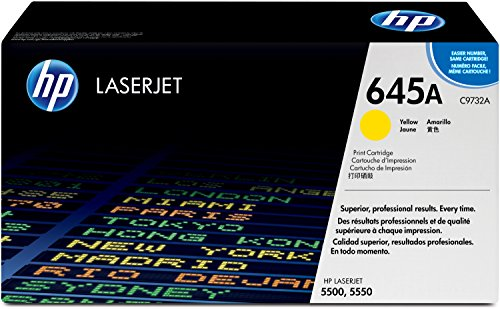 HP 645A (C9732A) Gelb Original Toner für HP Color Laserjet 5500, HP Color Laserjet 5550 (Hp Color Laserjet 5550n)