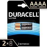 Duracell AAAA - Pila especial alcalina 1,5V, diseñada para dispositivos electrónicos, 1.5V, 2 unidades