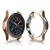 SO-buts Samsung Galaxy Watch Schutzhülle, Ultradünne Hülle 46 mm, TPU Überzug Schutzhülle,für Samsung Galaxy Watch (Rose Gold)