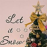 reatzhen- 4pcs Weihnachtsschablonen Vorlagen Sets, Frohe Weihnachten DIY Malerei Zeichnung Schablonen wiederverwendbare Mylar Vorlage Verwendung für Wandkunst DIY Home Decor