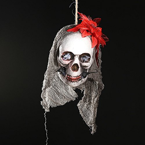 Halloween Bilder Animierte (Zantec Halloween Scary Skull Hanging Ornaments Wand Tür Fenster Pendent Ghost Skeleton Requisiten Halloween Party Dekor Haunted Häuser Bars)