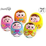 Smartcraft Push and Shake Wobbling Durable Roly Poly Tumbler Doll (Pack of 1)