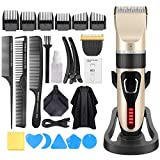 Hair Clippers for Men, OUDEKAY Professional Cordless Hair Trimmer IPX7 Waterproof USB Rechargeable