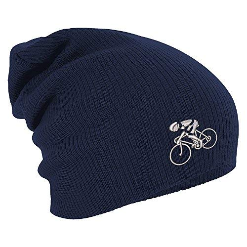 Fan-O-Menal Textilien Longbeanie Slouch-Beanie Mütze Fahrradfahrer Radler 55193...