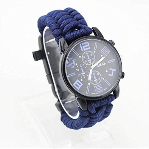 XUE Outdoor Life Watch Multifunktions Armbanduhr Kompass Flint Thermometer Uhr (Stil : Ein)