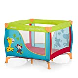 Hauck Sleep N Play SQ Jungle Fun - Cuna parque de 90 x 90 cm, útil como cuna de viaje, plegable y...