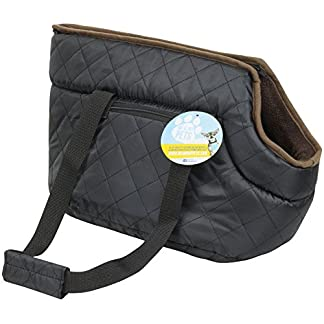 Me and My Pets Black Quilted Carrier 18