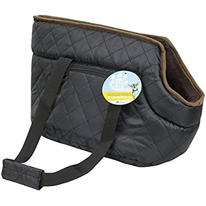Me and My Pets Black Quilted Carrier 1