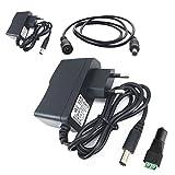 DZYDZR 2pcs AC/DC Adapter Power Supply DC 12V 1A Netzadapter Wall Plug 2,1/2,5mm x 5,5mm Plug für LED Band + 12V Mutter DC Kabelstecker + 1m DC 12v Kabel Verlängerung