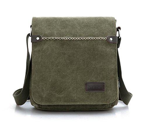 Wmshpeds Tela retrò borsa a tracolla maschio casual selvatici messenger bag sacca femmina versione coreana della borsa a tracolla A