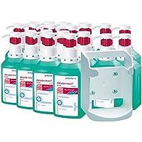 Desinfektions-Set, 20 x 500 ml Desderman® pure hyclick Händedesinfektionsmittel + Wandspender f. Vierkant-Flaschen preisvergleich bei billige-tabletten.eu