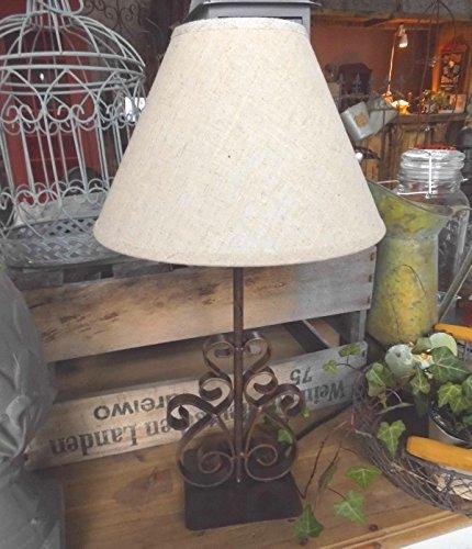 LANDHAUS LAMPE TISCHLAMPE LANDHAUSSTIL METALL TISCHLEUCHTE 46cm HOCH NEU