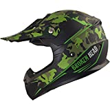 Broken Head Squadron camouflage grün Cross-Helm | MX Motocross Helm - Quad-Helm - Sumo-Helm (XL 61-62 cm)