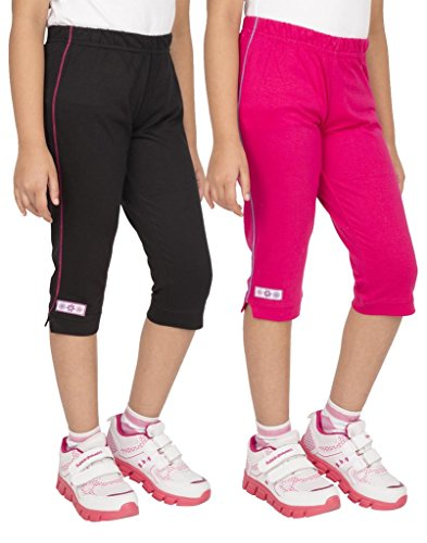 OCEAN RACE Girls Stylish attarctive colors Cotton Capris(3/4 th Pant)-Pack...