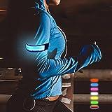 Lesypet® Correr Flashing Muñequera/impermeable luz LED brazalete de forma segura caminar, visibilidad intermitente Seguridad Brazalete Ciclismo Jogging Walking reflectante LED Brazalete (6colores disponibles), azul