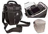 Sac étui Bodyguard Colt L Sacoche pour appareil photo avec housse de pluie pour tous les appareils photo SLR avec objectifs jusqu'à 22 cm à l'exempe de Nikon d3200 d5100 d5200 d3300 d5300 d5500 d7000 d7100 d800 Canon EOS 1200D 1300D 700D 750D 760D
