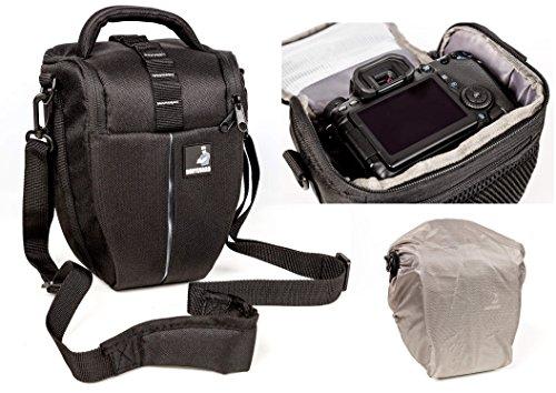 Galleria fotografica Sacchetto della macchina fotografica BODYGUARD Colt L con parapioggia per tutte le fotocamere reflex con lenti fino a 22 centimetri, come Nikon d3200 d5100 d5200 d3300 d5300 d5500 d7000 d7100 d800 Canon EOS 1200D 1300D 700D 750D 760D