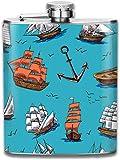 Pallone da vela Navi alte Vecchia fiaschetta in acciaio inossidabile da 7 Oz in acciaio inossidabile, ideale per le crociere da viaggio Escursioni in barca
