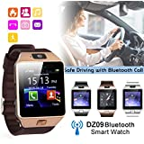 Wearable Smart Watch Phone DZ09 1.56 inch Touch Screen Bluetooth 3.0 Sync Call/SMS/Phonebook Sleep Tracker Sports for iOS/Android Smartphone-Copper gold
