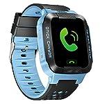 sinopro Kinder Kinder-Armbanduhr Smart Watch mit 3,7cm Touchscreen SIM Antiverlust GPS Tracker SOS Call Standort Finder Fernbedienung Monitor Schrittzähler Funktionen von iPhone und Android Smartphone