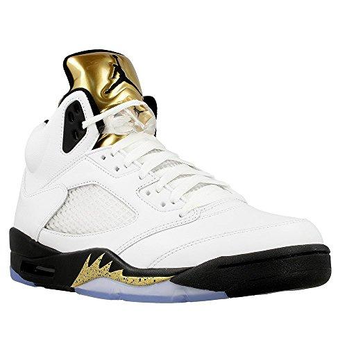 Nike Uomo Air Jordan 5 Retro scarpe sportive bianco Size: 44.5