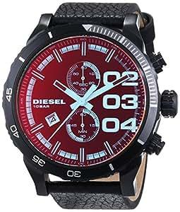diesel herren armbanduhr xl chronograph quarz leder dz4311. Black Bedroom Furniture Sets. Home Design Ideas