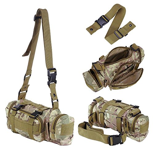 Outdoor Tactical Military MOLLE Assault Nylon 55 L wasserdicht Rucksack Camo Multicolor für Camping Wandern Trekking CP
