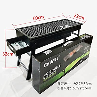 Nclon Faltbare Portable Holz-carbon Picknickgrill Holzkohlegrill,Schublade Long Bbq Barbecue Outdoor Picknick Camping Garten 3-8 Volk