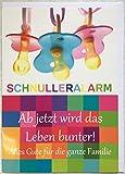 A4 XXL Große Babykarte Glückwunschkarte Geburt Schnulleralarm